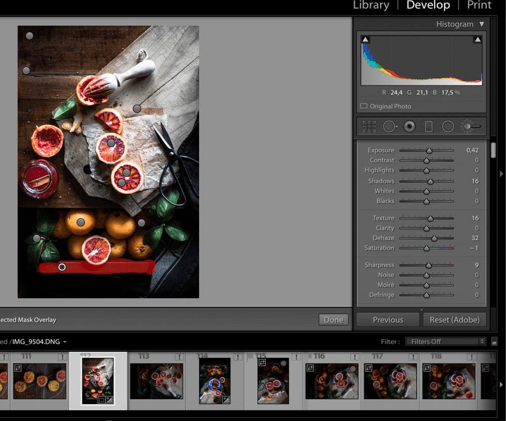 Lightroom editing Window |Healthy Goodies by Lucia Marecak
