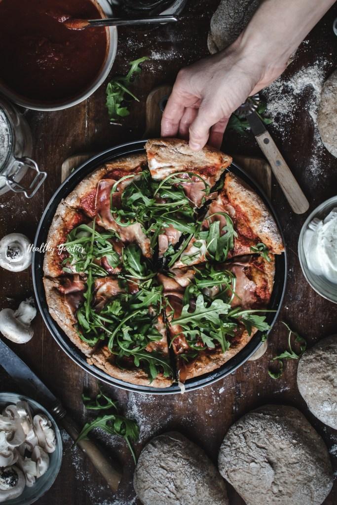 whole wheat Spelt pizza recipe | Healthy Goodies by Lucia Marecak