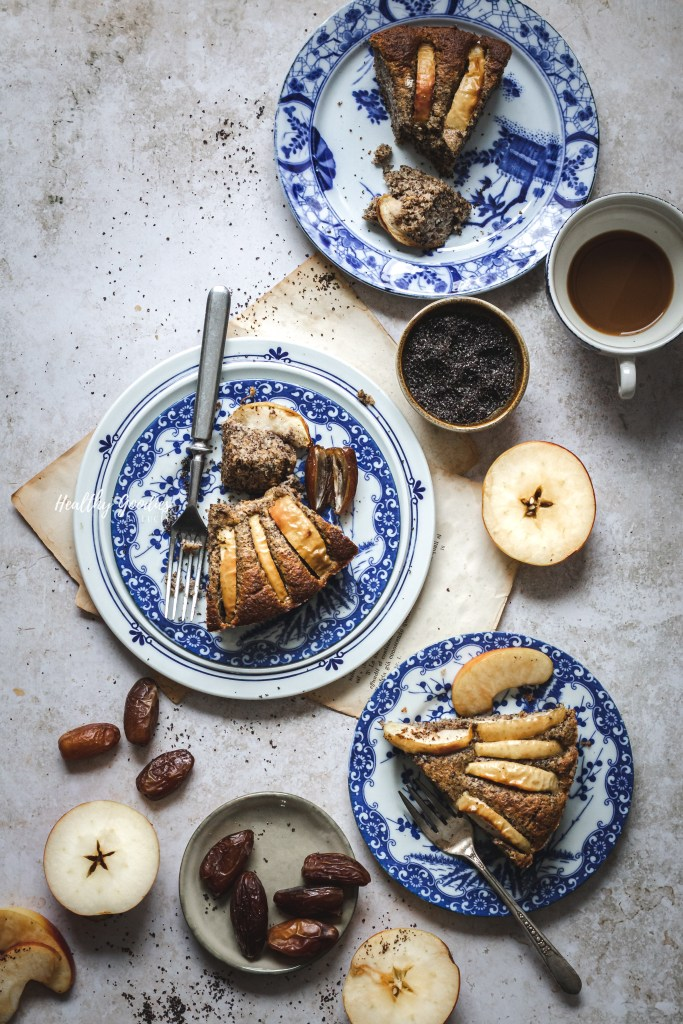 Naturally sweetened Apple Poppyseed Cake | Healthy Goodies by Lucia Marecak