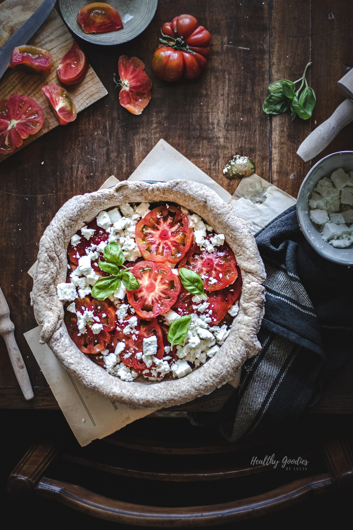 Tomato feta pie | Healthy Goodies by Lucia Marecak