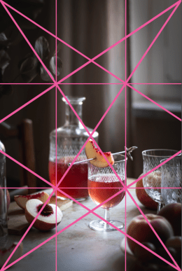 the Golden Ratio composition in food photography - Healthy Goodies by Lucia