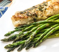 keto cod with garlic and herb butter