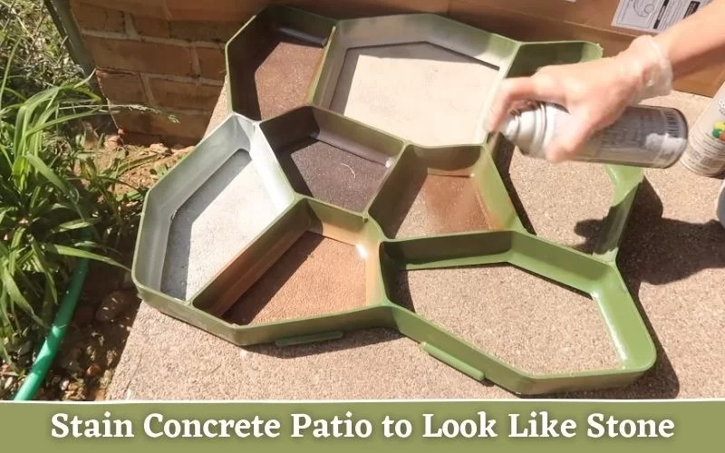 how to stain concrete patio to look