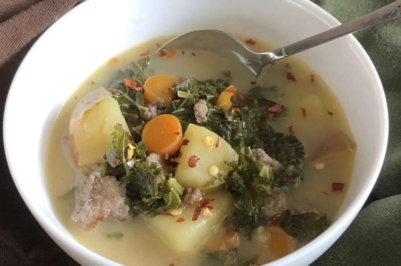 Sausage, Kale and Potato Soup | Whole30 and Paleo