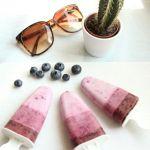 Kokos-Beeren-Eis am Stiel
