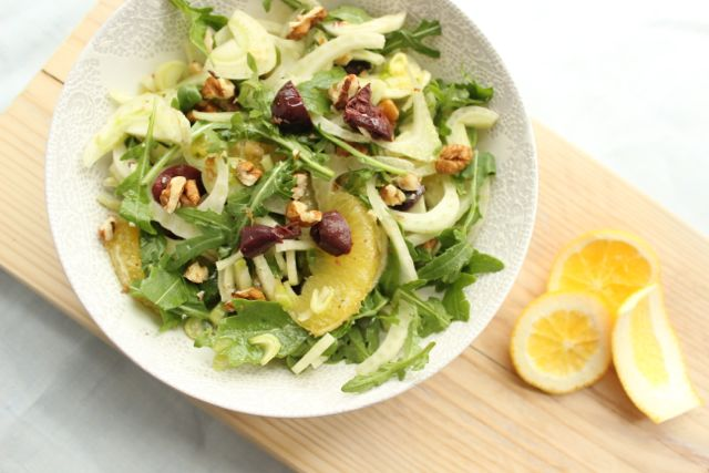 Super-Summer-Salad with fennel orange and arugula - www.healthyhappysteffi.com