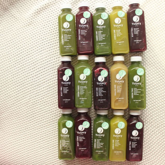 Juice Cleanse with Yuicery - the juices - www.healthyhappysteffi.com