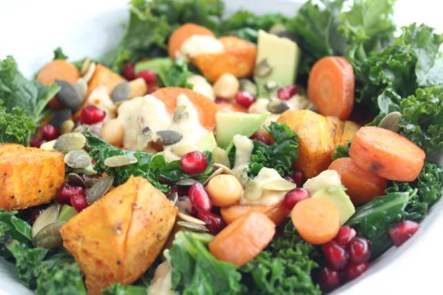Kale-sweetpotato-salad - www.healthyhappysteffi.com