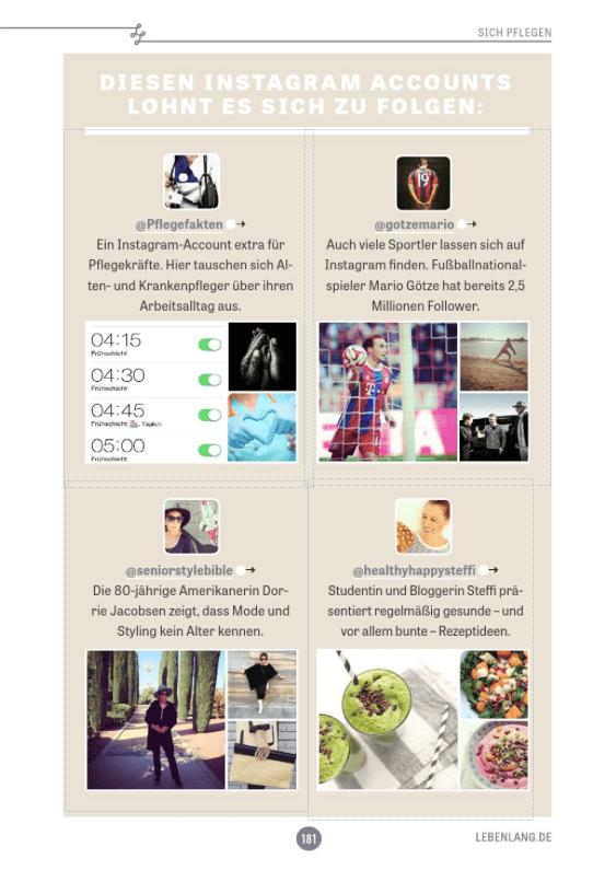 Instagram-Empfehlung im Lebenlang-Magazin