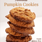 Three Ingredient Flourless Pumpkin Cookies #vegan #glutenfree