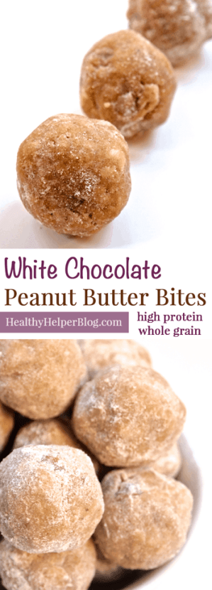 White Chocolate Peanut Butter Bites from HealthyHelperBlog.com