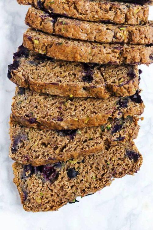 Vegan Blueberry Zucchini Bread