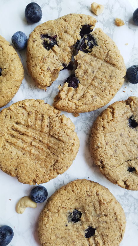 Blueberry Cashew Breakfast Cookies