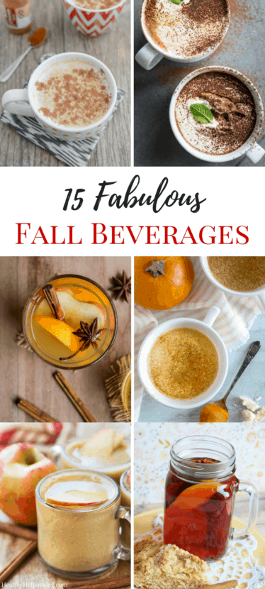15 Fabulous Fall Beverages | Healthy Helper @Healthy_Helper A roundup of fabulous fall drinks that will warm your soul and your stomach! Delicious, healthy beverages that feature all the wonderful flavors of the season. Drink to your heart's content with these wonderful season sips!
