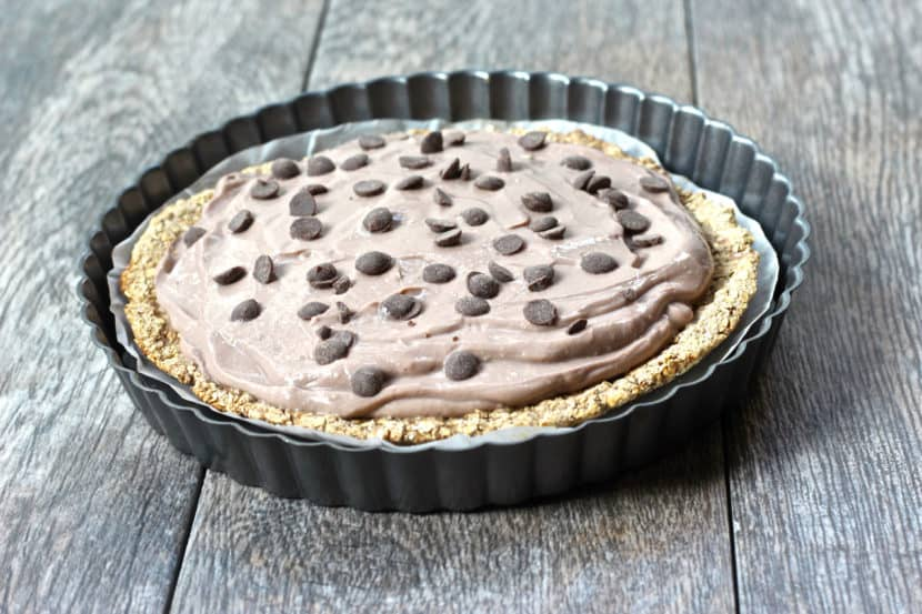 Low-Fat Vegan Pudding Pie Tart | Healthy Helper @Healthy_Helper
