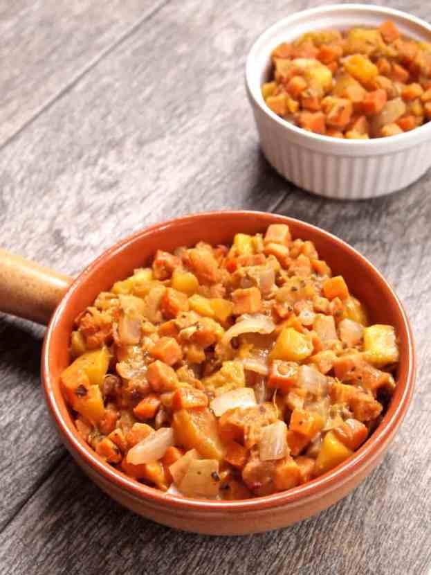 Fresh n' Fruity Sweet Potato Hash Cranberry Bacon Date Cracker Stacks | Healthy Helper @Healthy_Helper