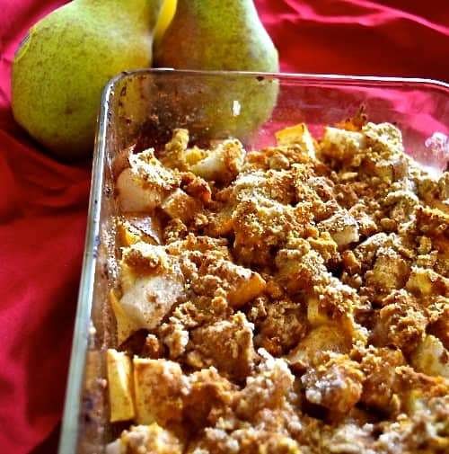 Pear Apple Pumpkin Crumble | Healthy Helper @Healthy_Helper