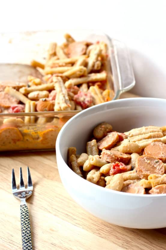 Vegan Pork n' Bean Mac and Cheese | Healthy Helper @Healthy_Helper