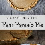 Vegan Pear Parsnip Pie [gluten-free +nut-free]