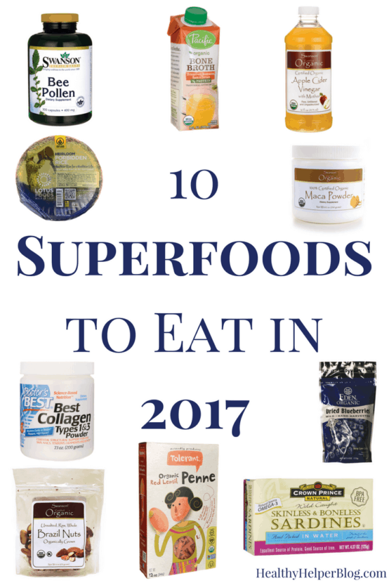 10 Superfoods to Eat in 2017 | Healthy Helper @Healthy_Helper A collection of the up and coming superfoods that will take the health world by storm in the new year! All the latest products and ingredients you need to be eating, cooking with, and including in your daily diet for optimal health and happiness.
