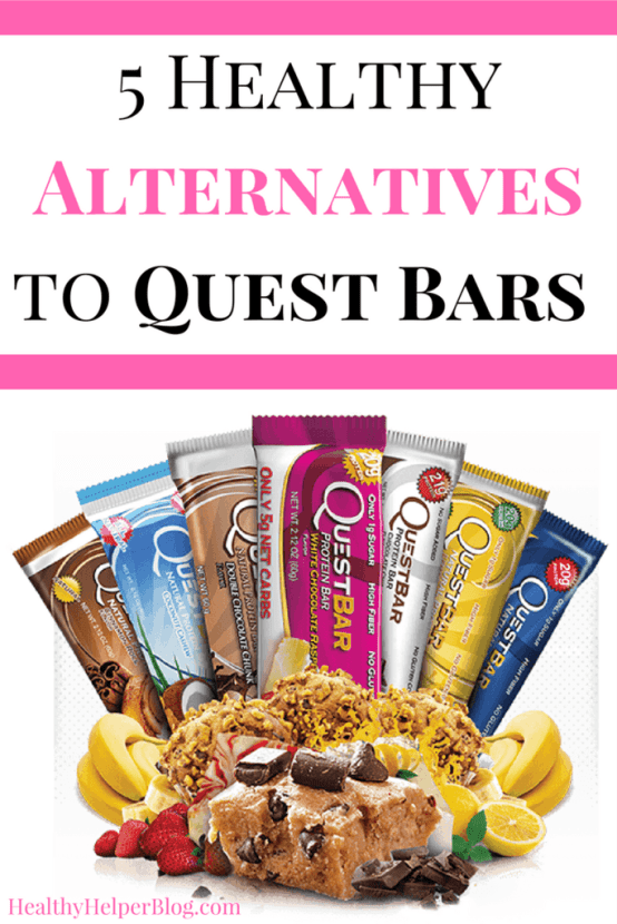 5 Healthy Alternatives to Quest Bars | Healthy Helper @Healthy_Helper It's time to quit Quest! Here's a collection of the healthiest protein bars that you can eat as alternatives to those processed, chemical-laden bars. No need to #cheatclean when you can FUEL RIGHT with these awesome options.
