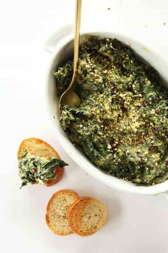 Amazing Creamy Kale and Spinach Dip | Healthy Helper @Healthy_Helper