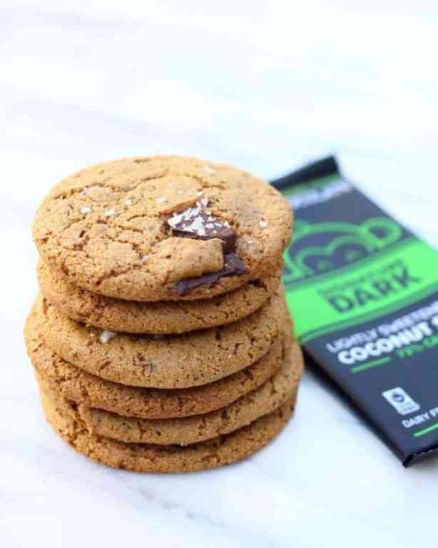Dark Chocolate Chunk Cookies with Sea Salt | Healthy Helper @Healthy_Helper