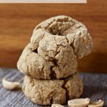 Vegan Peanut Butter Blossom Cookies [gluten-free + sugar-free]