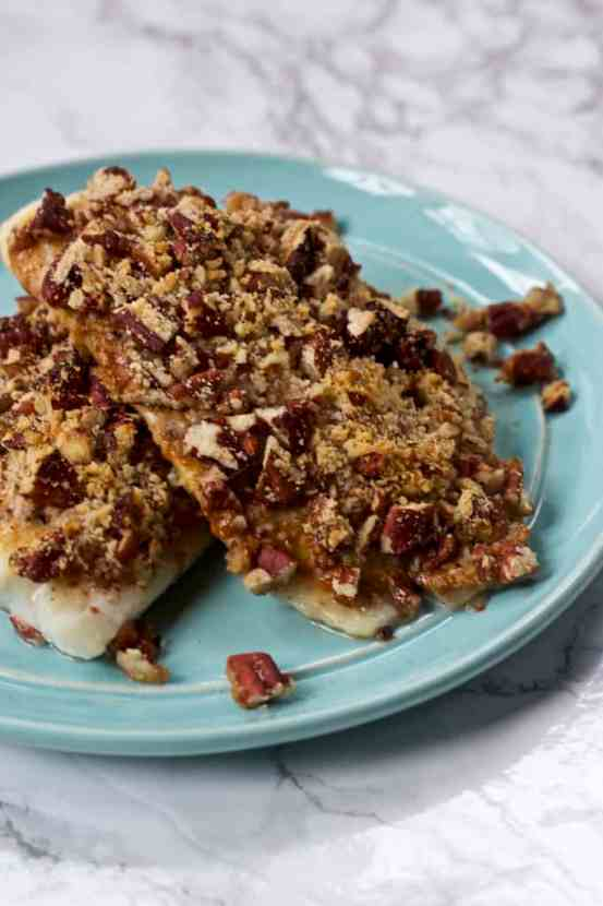 Pecan Parmesan Crusted Dijon Tilapia | Healthy Helper @Healthy_Helper