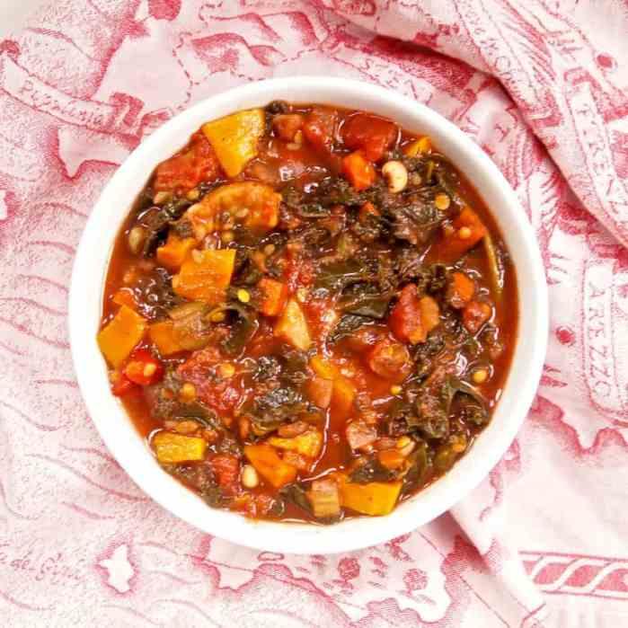 Vegan Sweet Potato Lentil Chili | Healthy Helper @Healthy_Helper