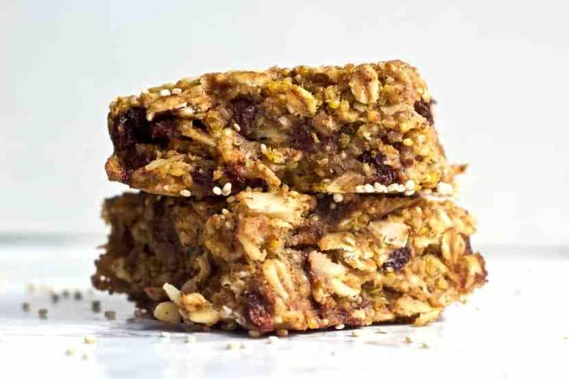 Coconut Chocolate Chip Quinoa Bars   Healthy Helper @Healthy_Helper