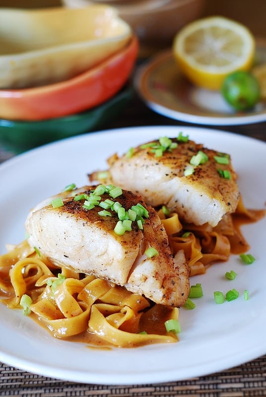 Asian Fish with Peanut Sauce Noodles | Heathy Helper @Healthy_Helper