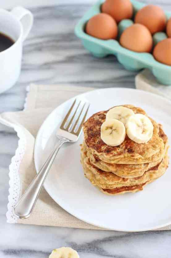 Peanut Butter Coconut Flour Pancakes | Healthy Helper @Healthy_Helper
