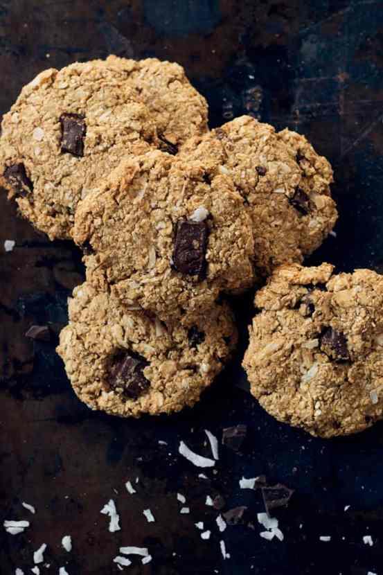 Chocolate Chunk Coconut Peanut Butter Oatmeal Cookies | Healthy Helper @Healthy_Helper