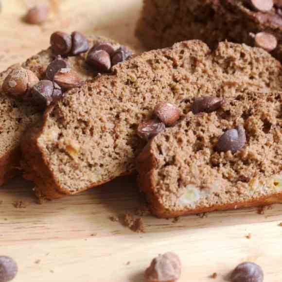 Gluten-Free Mocha Banana Bread | Healthy Helper @Healthy_Helper