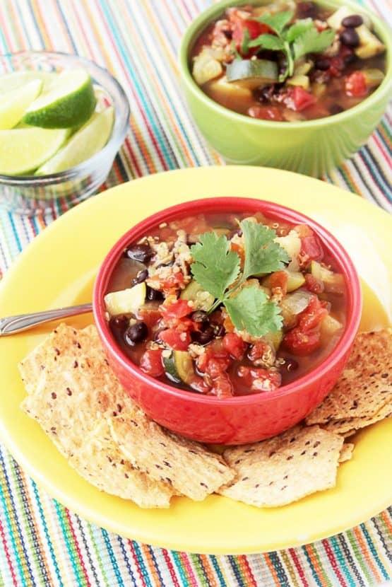 GF Vegetable and Quinoa Soup | Healthy Helper @Healthy_Helper