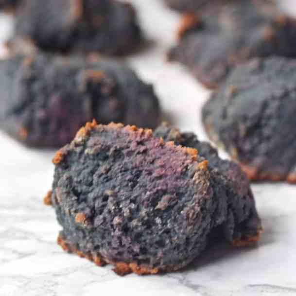 Purple Sweet Potato Biscuits | Healthy Helper @Healthy_Helper