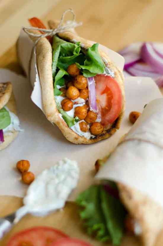 Roasted Chickpea Gyros | Healthy Helper @Healthy_Helper