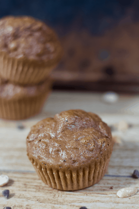 Chocolate Peanut Butter Protein Muffins | Healthy Helper @Healthy_Helper Fluffy n' light Chocolate Peanut Butter Muffins packed with PROTEIN! The perfect healthy snack for eating on the go when you want a sweet treat. Gluten-free, satisfying, and you only need one bowl to make them!