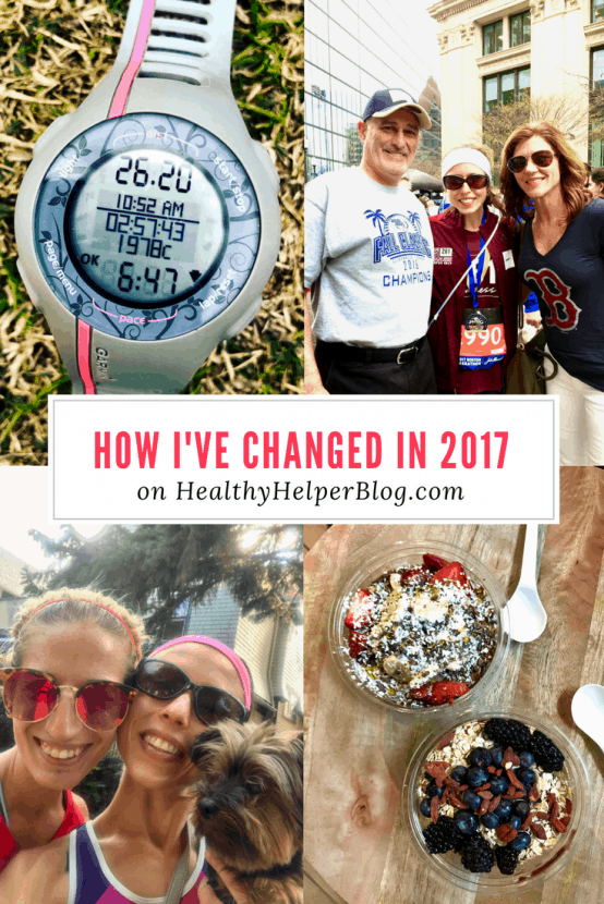 How I've Changed in 2017 | Healthy Helper @Healthy_Helper A look back at the year that was. The ups, the downs, and how everything I experienced changed me as a person.