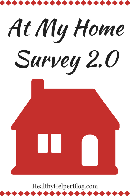 At My Home Survey 2.0 | Healthy Helper @Healthy_Helper A fun survey with insight into my life at home! Get to know me and what has changed since I've moved out on my own and into my new space.