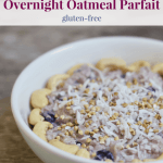 Vegan Blueberry Overnight Oatmeal Parfait [gluten-free]