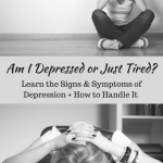 "Am I Depressed or Just Tired? | Healthy Helper Are you depressed or a just tired? A question we have to ask ourselves when certain habits begin to form in our day-to-day lives. This post will help you discern whether the rest you seek is ""normal"" or indicative of a more serious problem."