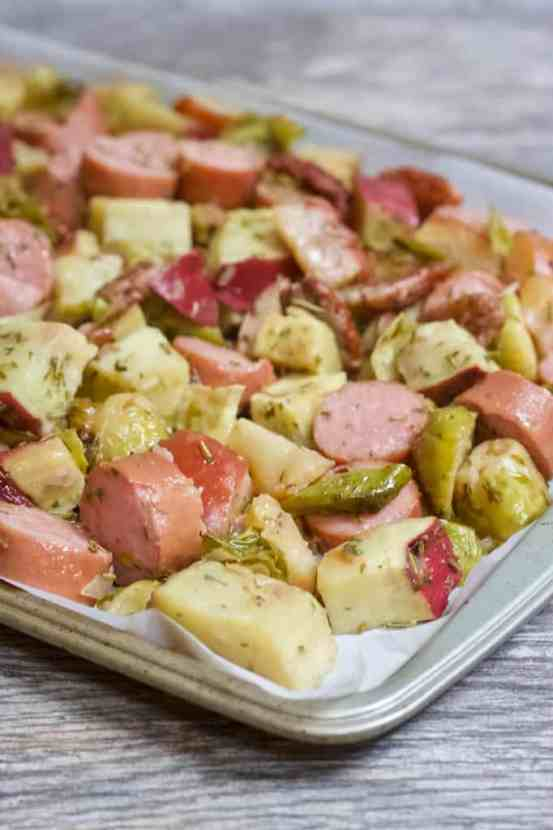 Smoked Sausage Sausage Sweet Potato Sheet Pan Meal with Rosemary and Thyme | Healthy Helper A healthy meat and potatoes meal filled with lean protein, complex carbohydrates, fresh produce, and TONS of flavor from all the tasty ingredients. This one pan meal is super easy to make and perfect for meal prep. From strict carnivores to healthy eating lovers, this sheet pan meal will be a new favorite amongst the whole family!Smoked Sausage Sausage Sweet Potato Sheet Pan Meal with Rosemary and Thyme | Healthy Helper A healthy meat and potatoes meal filled with lean protein, complex carbohydrates, fresh produce, and TONS of flavor from all the tasty ingredients. This one pan meal is super easy to make and perfect for meal prep. From strict carnivores to healthy eating lovers, this sheet pan meal will be a new favorite amongst the whole family!