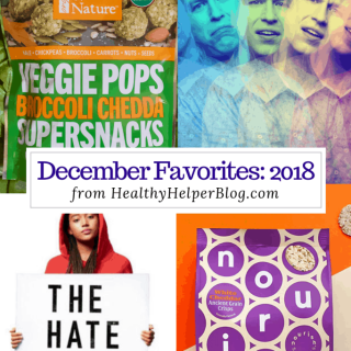 December Favorites: 2018 | Healthy Helper A roundup of my current favorite products, links, and things from around the web! Check out the list and find some new things to try for yourself.