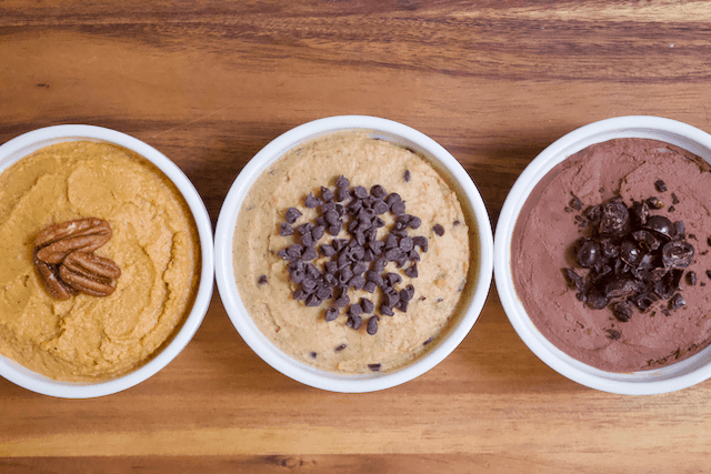 Chocolate Chip Cookie Dough Dessert Hummus   Chocolate Chip Cookie Dough Dessert Hummus that tastes like freshly mixed cookie dough. Creamy and rich with tons of chocolate chips mixed in. Perfect for satisfying all your cookie cravings the HEALTHY way. Vegan, gluten-free, and low in sugar.