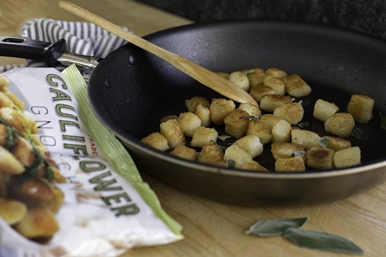 7 Sensational Ways to Serve Cauliflower Gnocchi | 7 unique, easy ways to prepare Trader Joe'scauliflower gnocchi and take it to the next level of deliciousness! Vegetarian, pescetarian, and meat options to satisfy everyone's needs. If you haven't tried cauliflower gnocchi, now you have ZERO excuses.