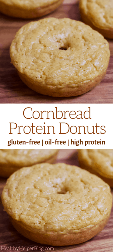 Cornbread Protein Donuts   A fun twist on traditional cornbread...cornbread in donut form! These sweet Cornbread Donuts are gluten-free, high in protein, and perfect for a unique addition to breakfast, brunch, or snacktime. Totally kid-friendly too!