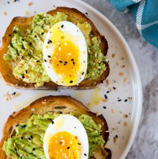 Avocado Toast with Jammy Eggs