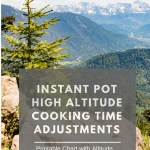 Instant Pot Altitude Adjustments